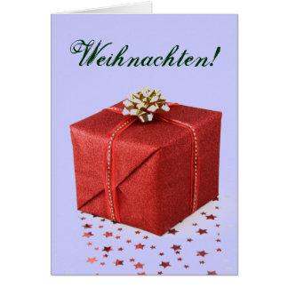 Julklappar Weihnachten rött I Hälsningskort