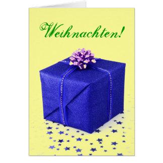 JulklappWeihnachten blått II Hälsningskort
