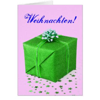 JulklappWeihnachten grönt Hälsningskort