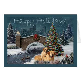 Julkort Evening1 för Labrador Retriever Hälsningskort