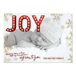 Julkort för 311 glädjestort festtältsnöflingor 12,7 x 17,8 cm inbjudningskort