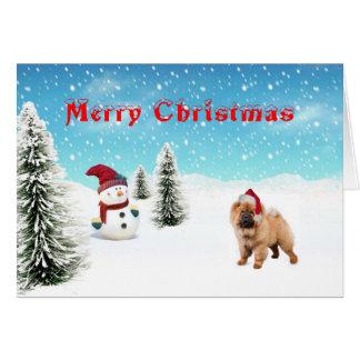 Julkort för Chowchow Hälsningskort