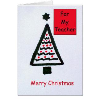 Julkort för en lärare hälsningskort