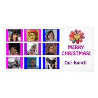 Julkort för födelsedag för raster för Brady Fotokort
