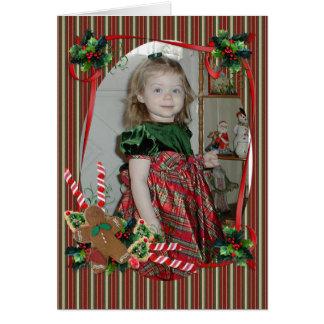 Julkort för foto hälsningskort
