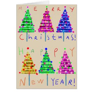 Julkort för god julungekonst hälsningskort