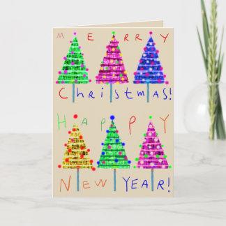 Julkort för god julungekonst helgkort