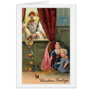 """Julkort """"för julhälsning"""" vintage hälsningskort"""