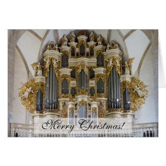Julkort för Merseburg domkyrkaorgan Hälsningskort