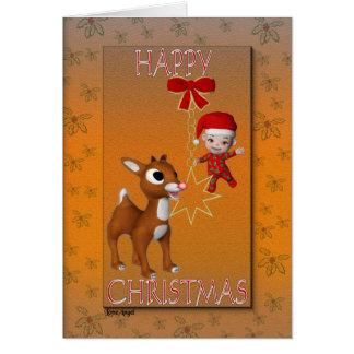 Julkort för Rudolf ` s Hälsningskort