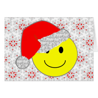 """JULKORT """"för santa bebis"""" SMILEY FACE Hälsningskort"""