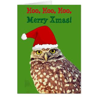 Julkort för ugglaSanta personlig Hälsningskort