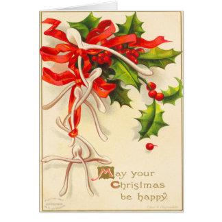 Julkort för VictorianWishben Hälsningskort