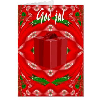 Julkort i norrman hälsningskort