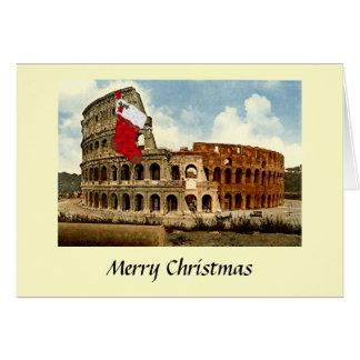 Julkort - Rome, Colosseumen Hälsningskort