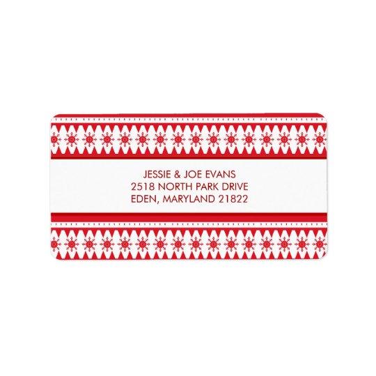 Julkortbrevskickandeadressetiketter Adressetikett