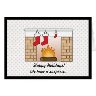 Julkortgravidmeddelande Hälsningskort