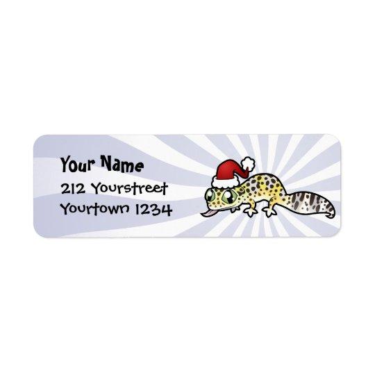 JulLeopardGecko Returadress Etikett