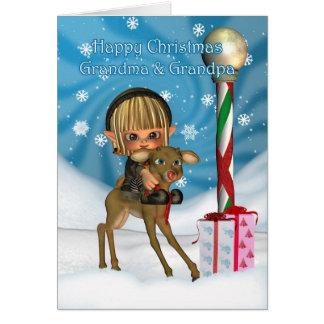 Julmorfar & mormorälvaren, Rudolf, Hälsningskort