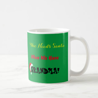 Julmormodern är den Santa muggen Vit Mugg