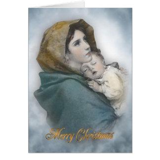 Julnativity det Madonna religiösakortet Hälsningskort
