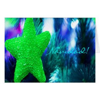 JulNavidad grön stjärna
