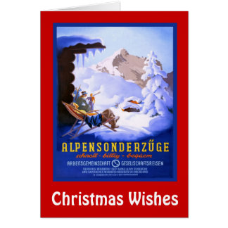 Julönskemål, Alpensonderzuge 1 Hälsningskort