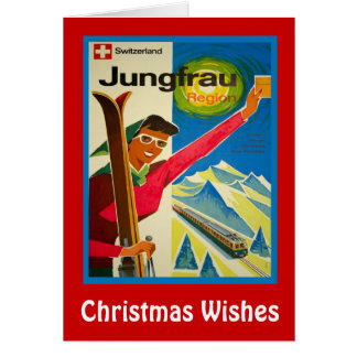 Julönskemål, Jungfrau, Schweitz Hälsningskort