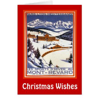 Julönskemål, Mont Revard, Schweitz Hälsningskort