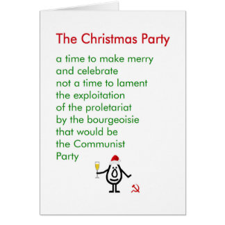 Julpartyet - en rolig juldikt hälsningskort