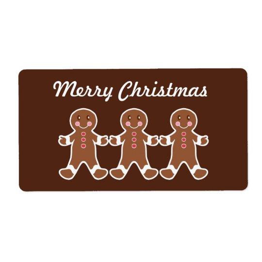 Julpepparkakaetiketter Fraktsedel