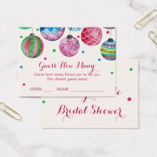 Julprydnadgissning, hur många kysser kort