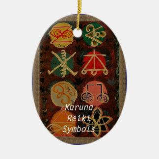 JulprydnadKaruna Reiki symboler DIY Julgransprydnad Keramik
