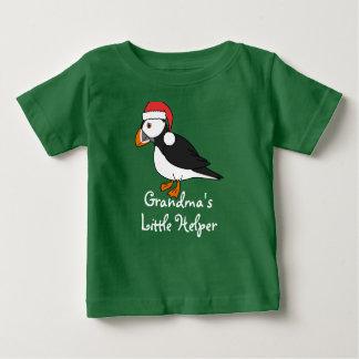 JulPuffin med den röda Santa hatten T Shirt
