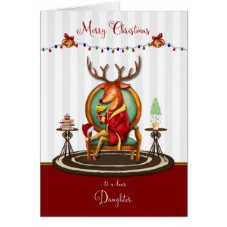 Julren för dotter hälsningskort