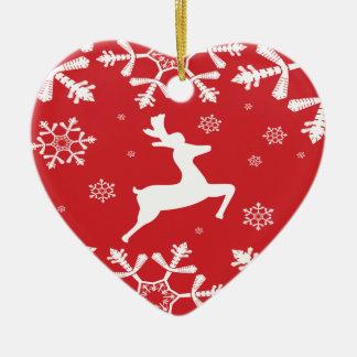 Julren Hjärtformad Julgransprydnad I Keramik
