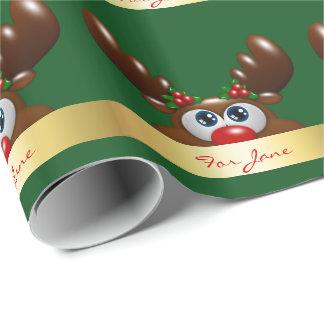 julren med en speciell dedikation presentpapper