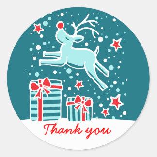 Julrenbanhoppningen tackar dig klistermärken