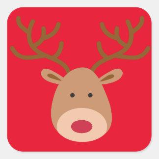 Julrenklistermärkear - lakan av 20 fyrkantigt klistermärke