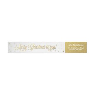 Julsjal runt om etiketter