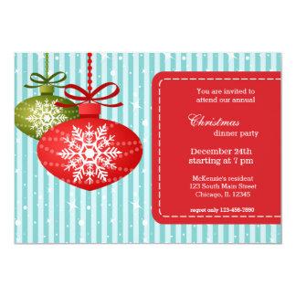 Julsnöflingor 12,7 X 17,8 Cm Inbjudningskort