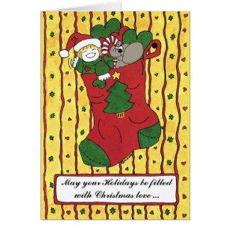 Julstrumpa Hälsningskort