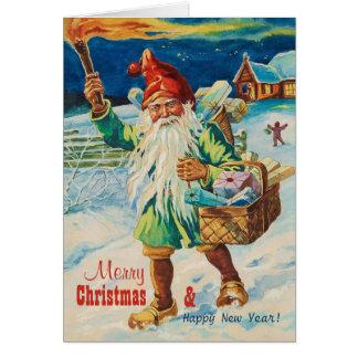 Jultomte med facklan CC0939 Jenny Nyström Hälsningskort