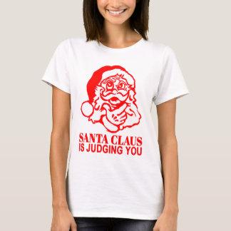 Jultomten bedömer dig tee shirts