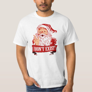 Jultomten finns inte t-shirt