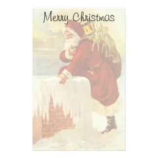 Jultomten för vintagejulVictorian i lampglas Brevpapper