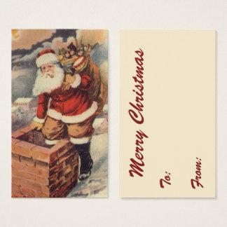Jultomten för vintagejulVictorian i lampglas Visitkort