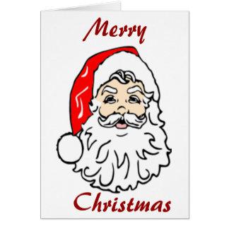 Jultomten i röd hatt hälsningskort