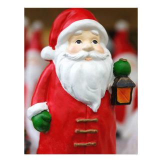 Jultomten med en lyktajuldekoration reklamblad 21,5 x 30 cm