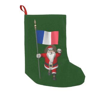 Jultomten med ensignen av frankriken liten julstrumpa